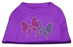 Christmas Bows Rhinestone Shirt Purple XS (8)